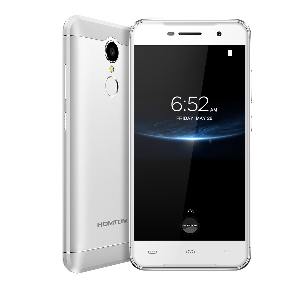 5.0 inch homtom ht37 pro 4g smartphones (silver)